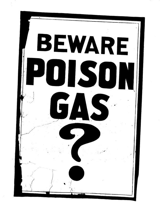 Beware Poison Gas Headline