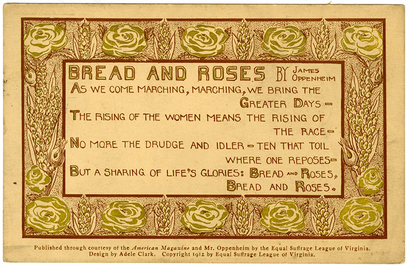 Bread and Roses [suffrage postcard]