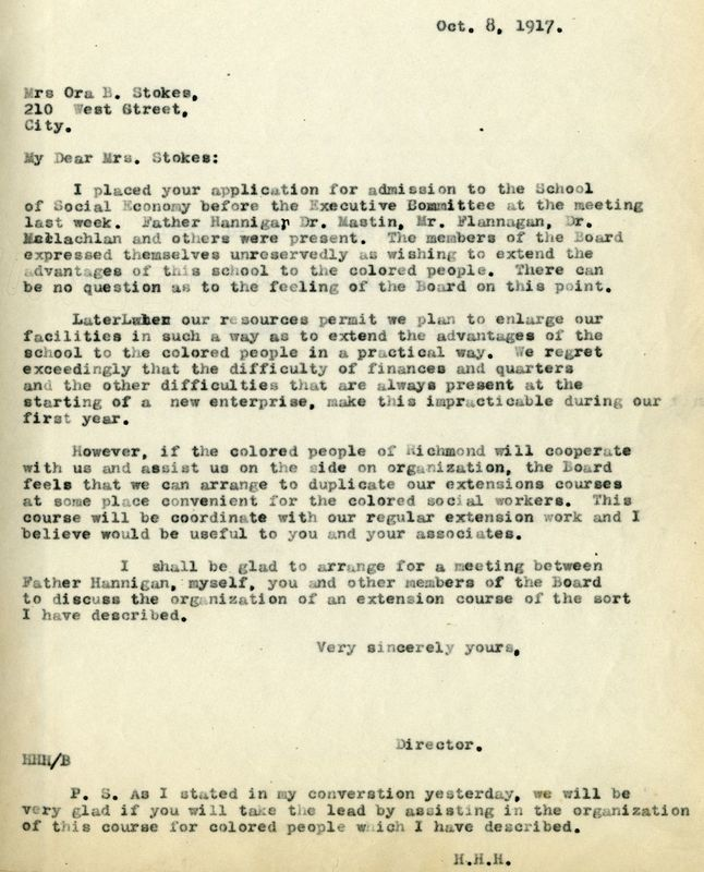 Letter from Dr. Hibbs to Ora Brown Stokes