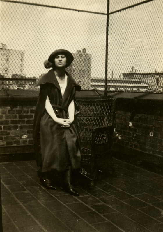 Theresa Pollak on the Rooftop of the Studio Club of New York