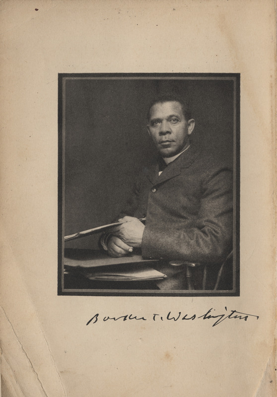 Image of Booker T. Washington on frontispiece from<em> Up from Slavery: An Autobiography</em> by Booker T. Washington, 1901.