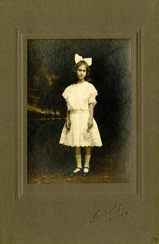 Photograph of Theresa Pollak around 10 Years Old