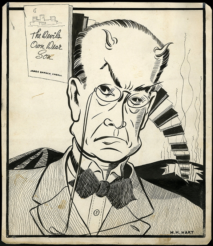 The Devil's Own Dear Son, caricature of James Branch Cabell by H. H. Hart