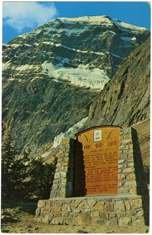 Mt. Edith Cavell Memorial Plaque