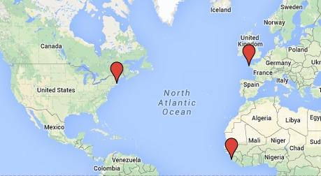 Locations of Influenza Outbreak