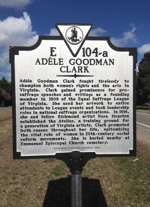 Adèle Goodman Clark highway marker 104-a  [Virginia historical highway marker]