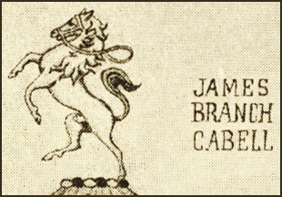Cabell bookplate, detail