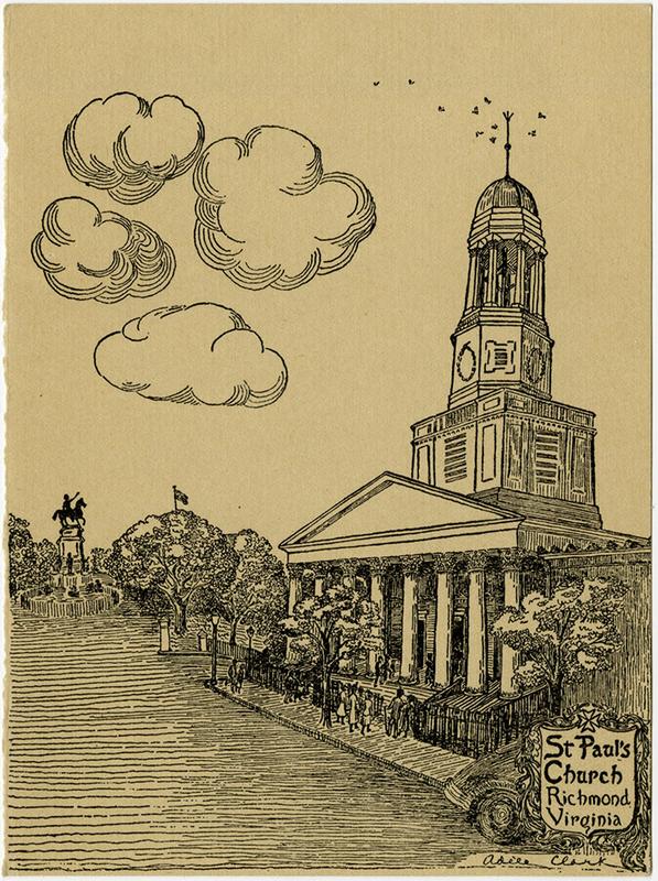 St. Paul's Church, Richmond, Virginia [drawing by Adèle Goodman Clark]