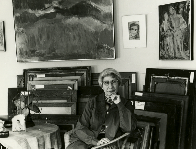 Theresa Pollak in Her Studio on Grove Avenue