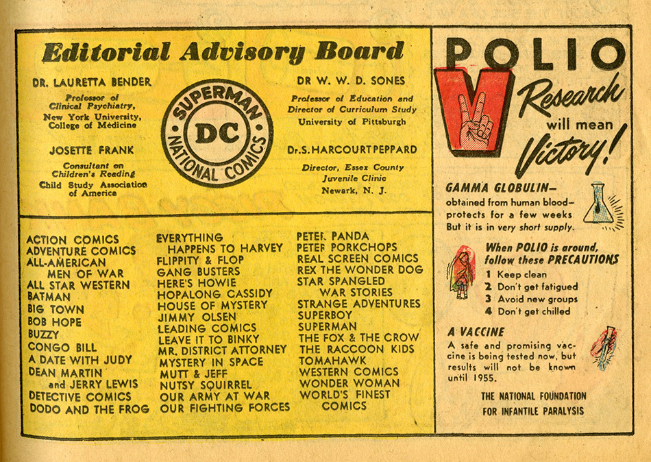 Superboy No 36 Oct 1954 Polio research psa.jpg