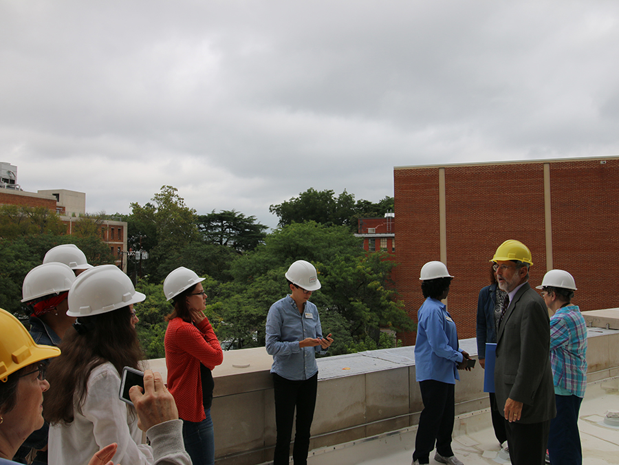 Librarians hard hat tour 2015.jpg
