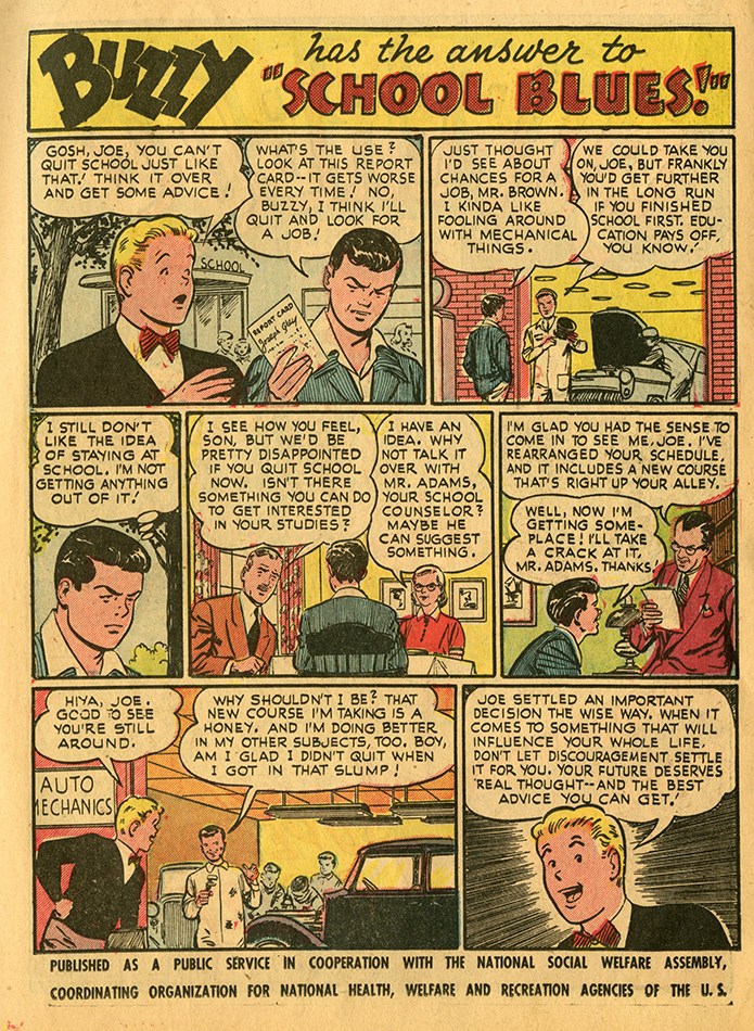 Superboy No 36 Oct 1954 NSWA public service comic.jpg