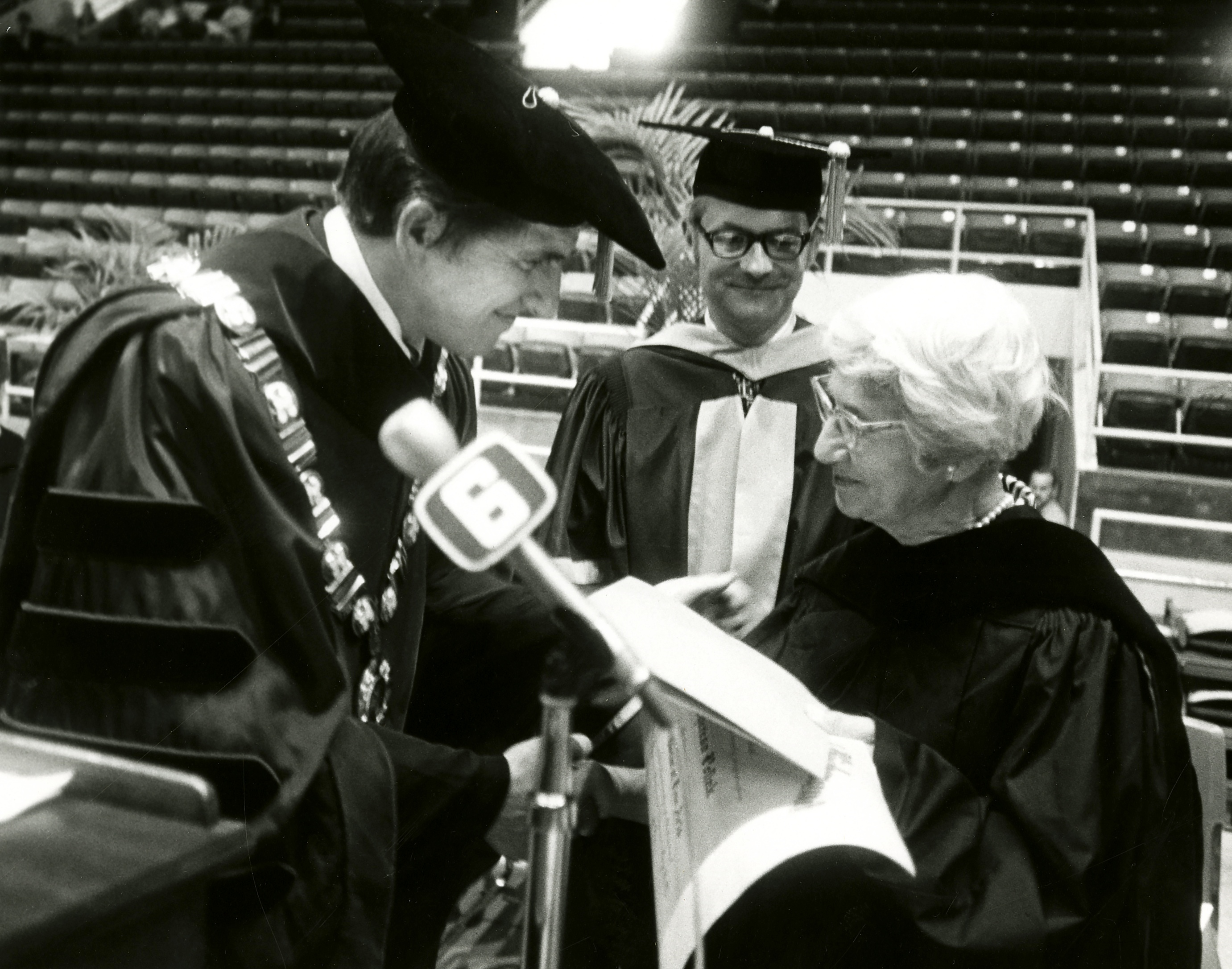 M5_B19_Correspondence from Westhampton_Photo of Pollak receiving Doctorate_300ppi.jpg