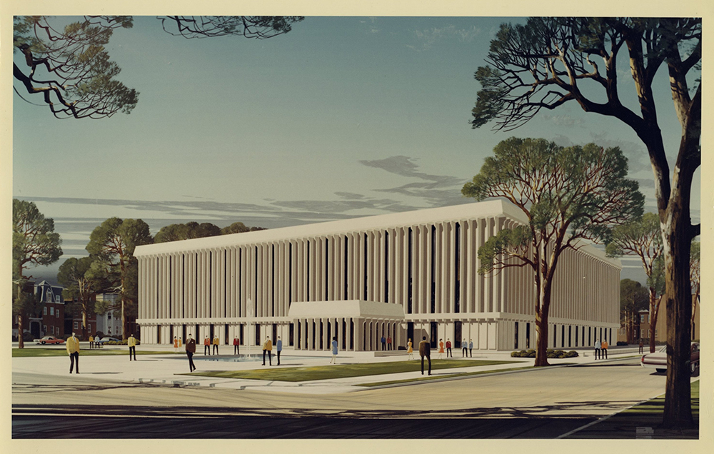 James Branch Cabell Library artist's rendering
