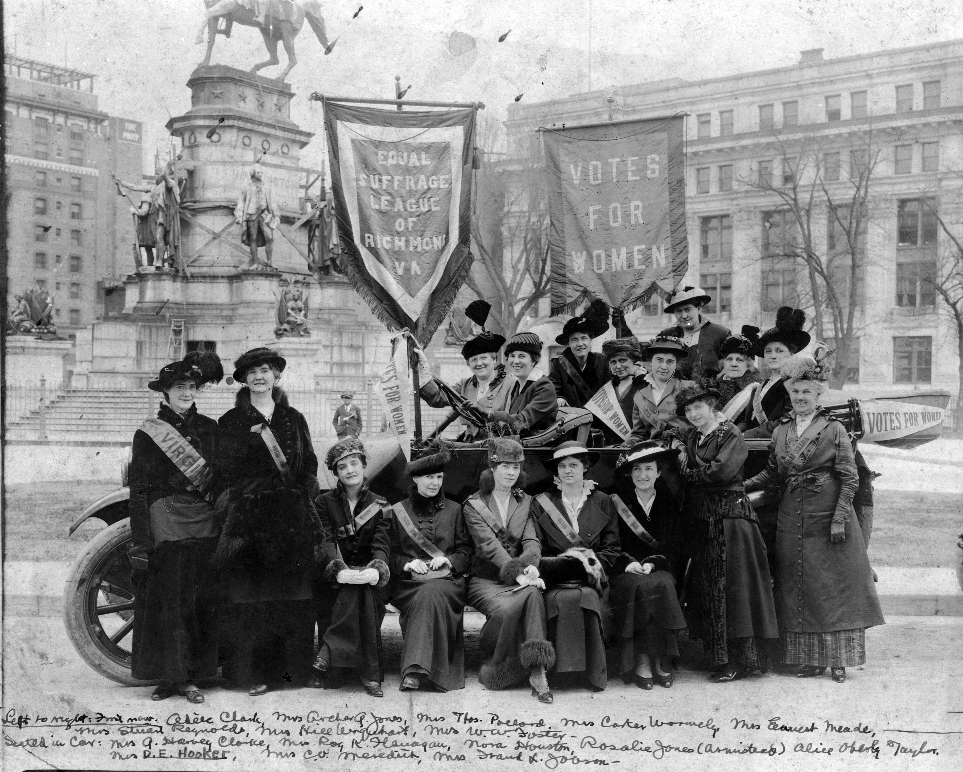 Members of the Equal Suffrage League of Virginia, Capitol Square, February 1915