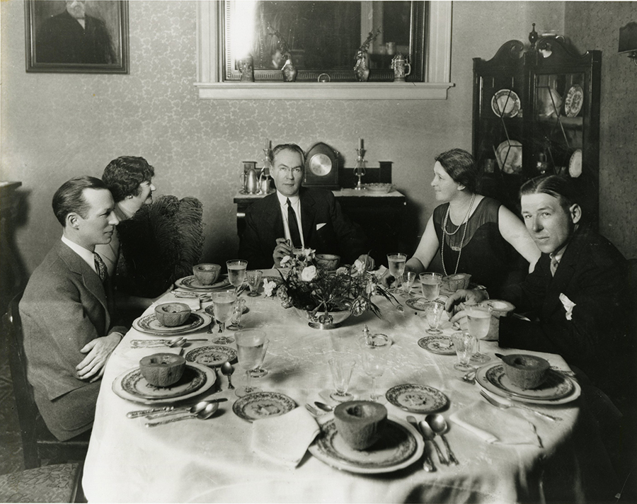Dinner at Ellen Glasgow home June 1928