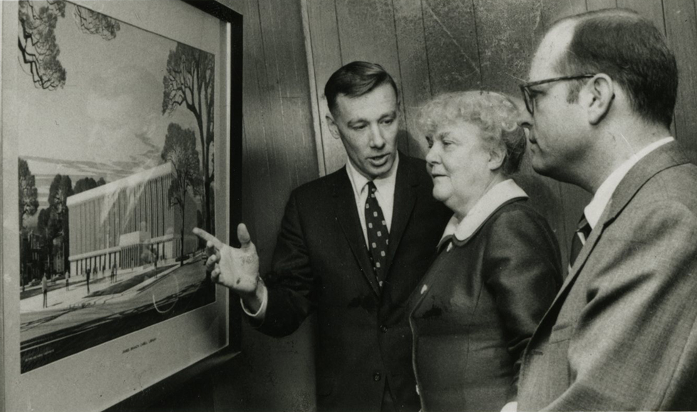 FJ Brooke MFCabell and MDuke at Cabell Library dedication 1968
