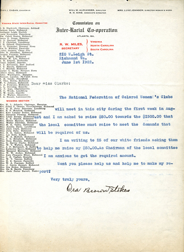 VCU_M 9 Box 37 Letter from Ora Brown Stokes to Adele Clark June 1 1922 rsz.jpg