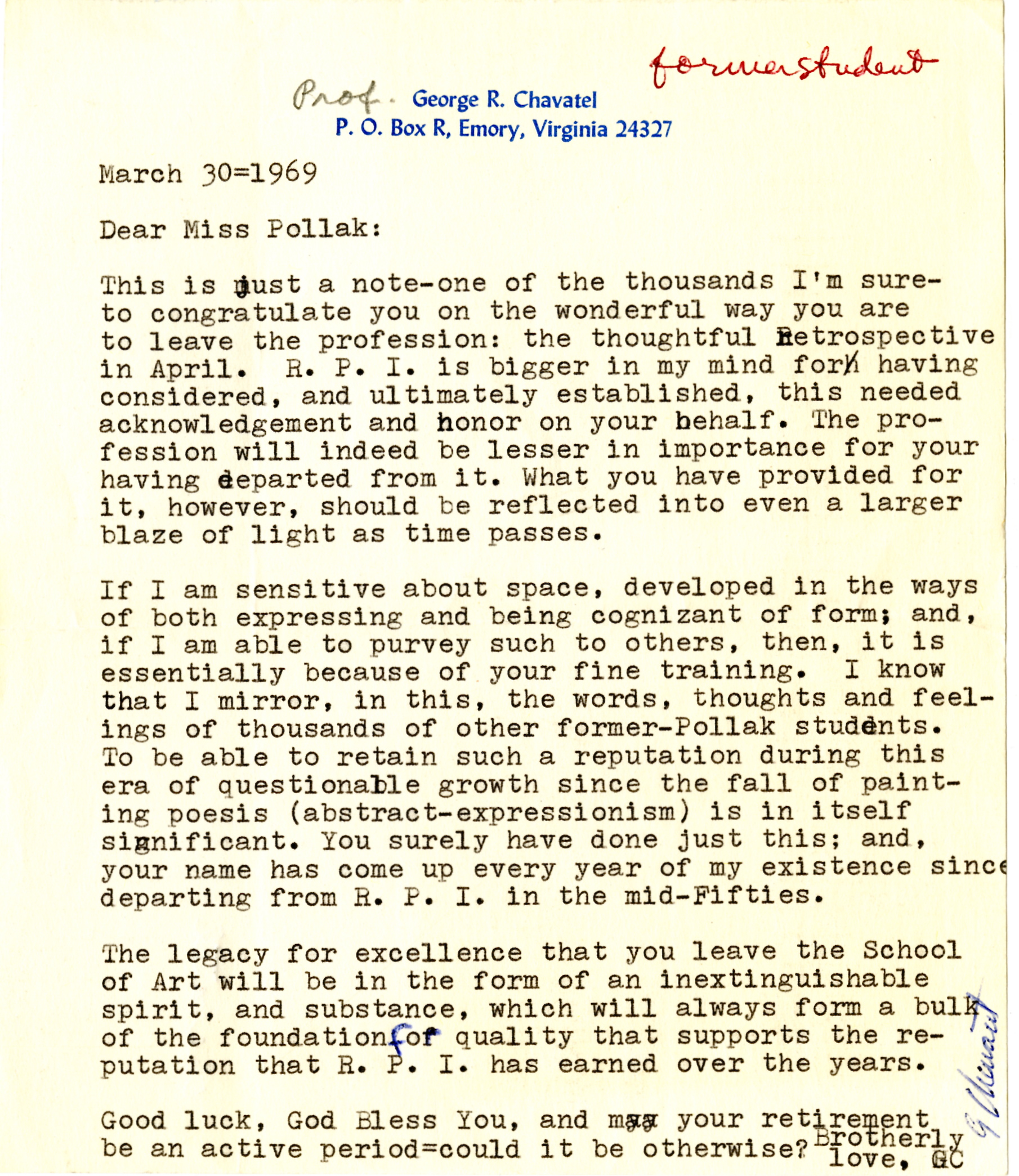 M5_B8_Correspondence from Former Students A-Z_Letter from George Chavatel_1969_001.jpg