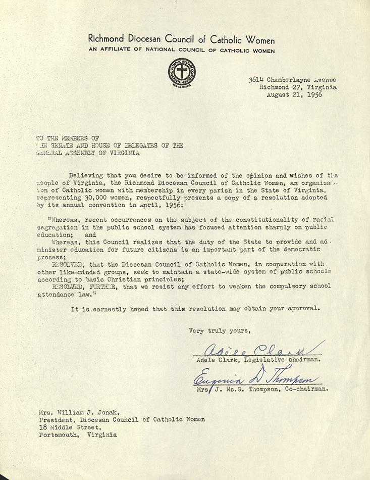 VCU_M 9 Box 161 Diocesan Council Of Catholic women in favor public school Aug 21 1956 rsz.jpg