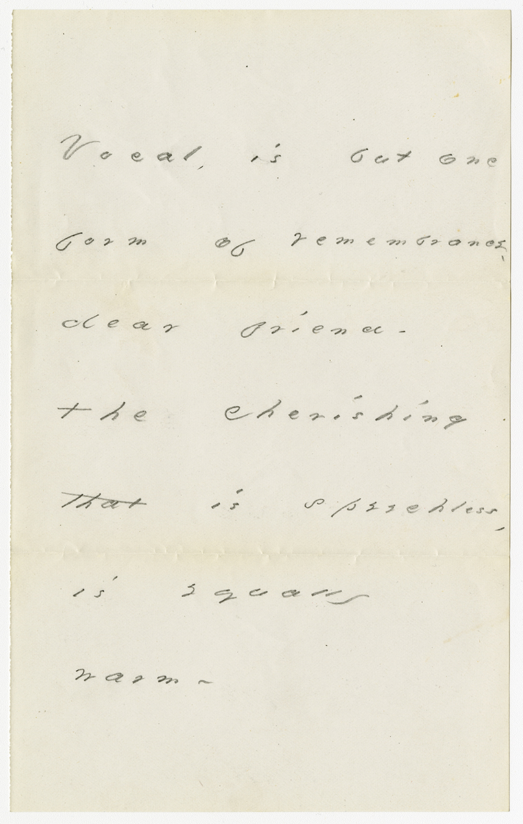 M 235 Emily Dickinson letter_Vocal is but one form of remembrance gallery.jpg