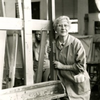 Theresa Pollak in Her Painting Class Studio at RPI