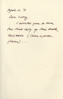 Inscription on flyleaf by Philip Levine in Larry Levis' copy of <em>What Work Is: Poems</em> by Philip Levine, 1991.