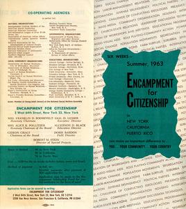 Encampment for Citizenship brochure, 1963