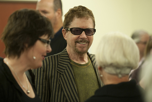 Tom Robbins and Alexa DAvalon visit Cabell Library.jpg