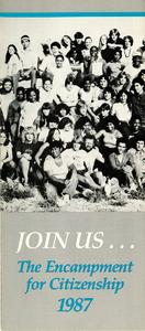 Encampment for Citizenship brochure, 1987
