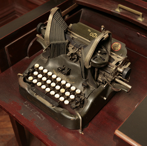 Oliver Typewriter No. 9 and typewriter desk