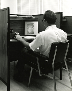 James Branch Cabell Library interior, 1971