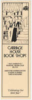 "Bookmark, ""Carriage House Book Shops,"" laid in Larry Levis' copy of <em>The Whole Motion: Collected Poems, 1945-1992</em> by James Dickey, 1992."