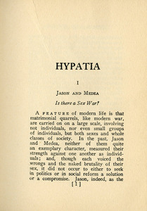 Hypatia, or Woman and Knowledge (1925)