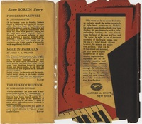 Back of dust jacket of Hunter Stagg's copy of <em>The Weary Blues</em> by Langston Hughes, 1926.
