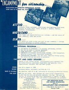 Encampment for Citizenship poster, 1950