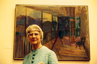 Theresa Pollak with a Painting
