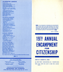 Encampment for Citizenship brochure, 1964
