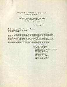 VCU-M9 Box 161 Diocesan Council of Catholic Women anti poll tax letter feb 1954 rsz.jpg