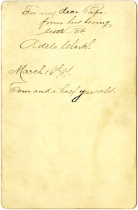 Adèle Clark, age 4 1/2, March 16, 1887