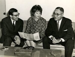 m391b3f1 William Haddad Mrs Louis Lazar Ralph Bunche UN 1964 Photo Fennar crop rsz.jpg