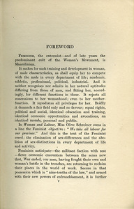 Feminism and sex-extinction (1920)