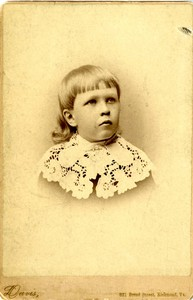 James Branch Cabell, c. 1884, age 4