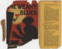 Front of dust jacket of Hunter Stagg's copy of <em>The Weary Blues</em> by Langston Hughes, 1926.