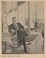 Image of James Branch Cabell from Hunter Stagg's copy of <em>Innocence Abroad</em> by Emily Clark, 1931.