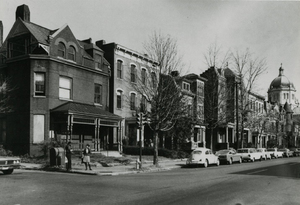 900 block of Floyd Avenue before RPI Library construction