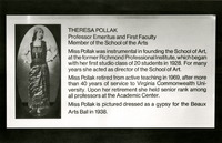 The Theresa Pollak Building Dedication Plaque