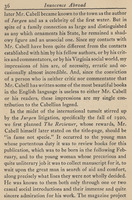 Page 36, from the chapter on James Branch Cabell from Hunter Stagg's copy of <em>Innocence Abroad</em> by Emily Clark, 1931.