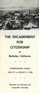 Encampment for Citizenship brochure, 1958