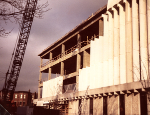 Construction of upper floors, James Branch Cabell Library